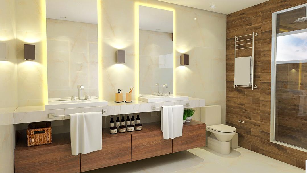 Banheiro Casal Com Logo